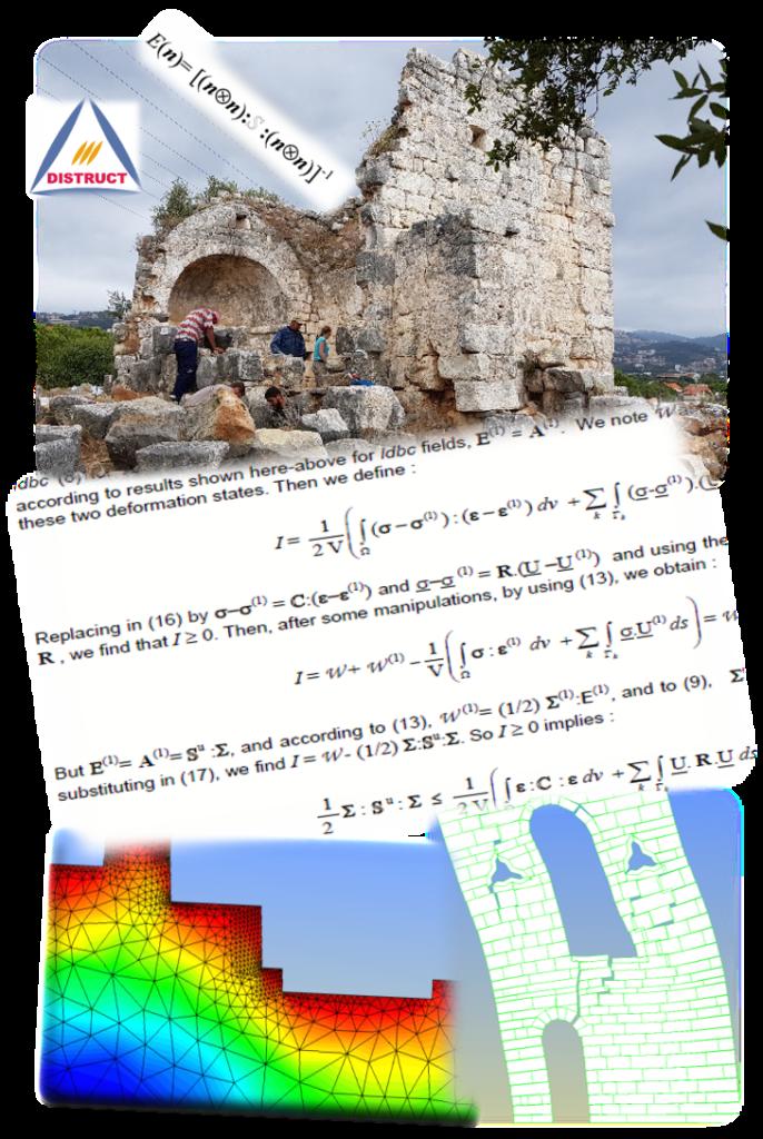 DISTRUCT- Heritage - Historical Monuments - Rock Mechanics - Numerical Modeling